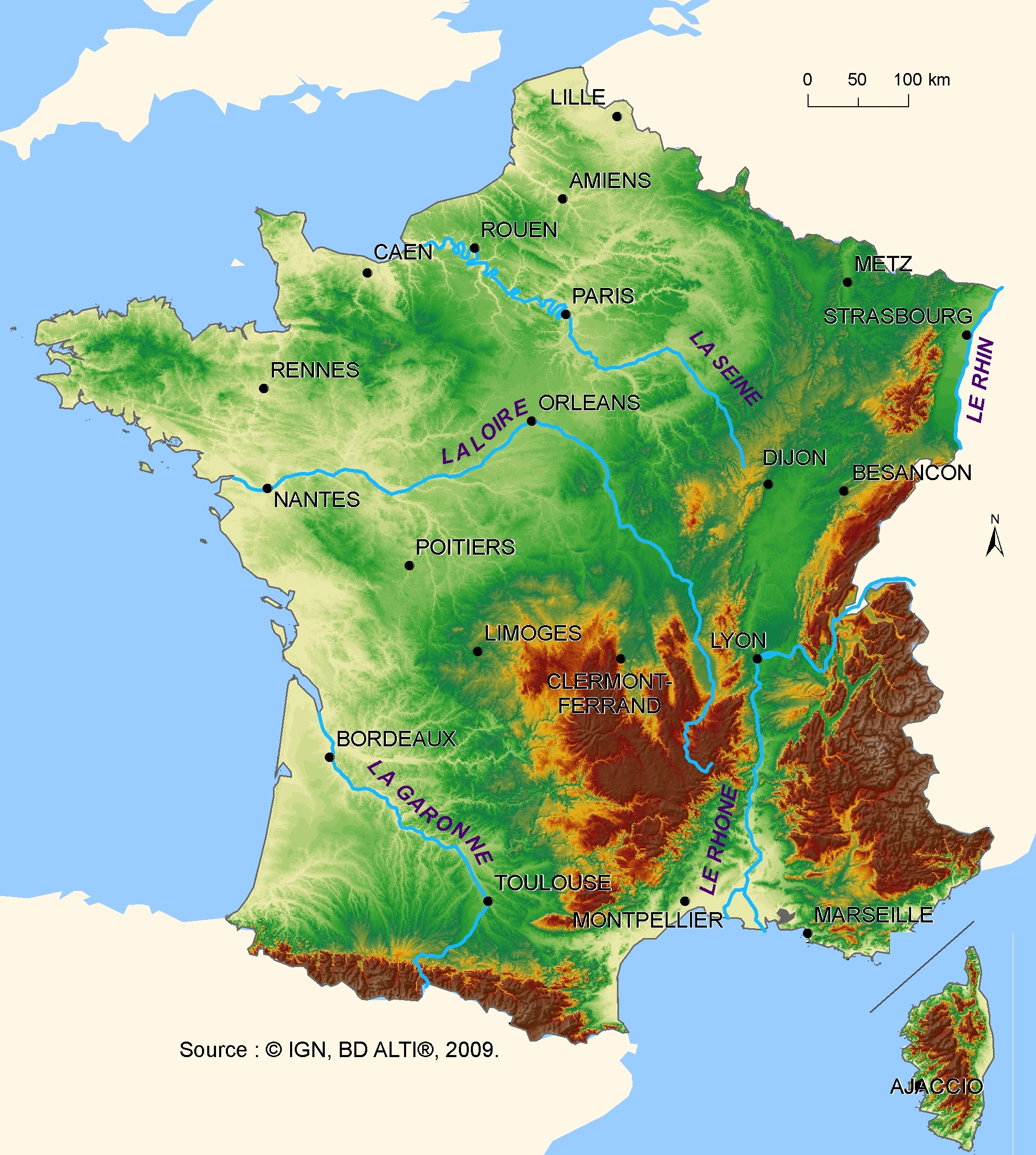 Map Of France For Ks2.Ks2 Geography Place Knowledge 2b Ii France The Country The
