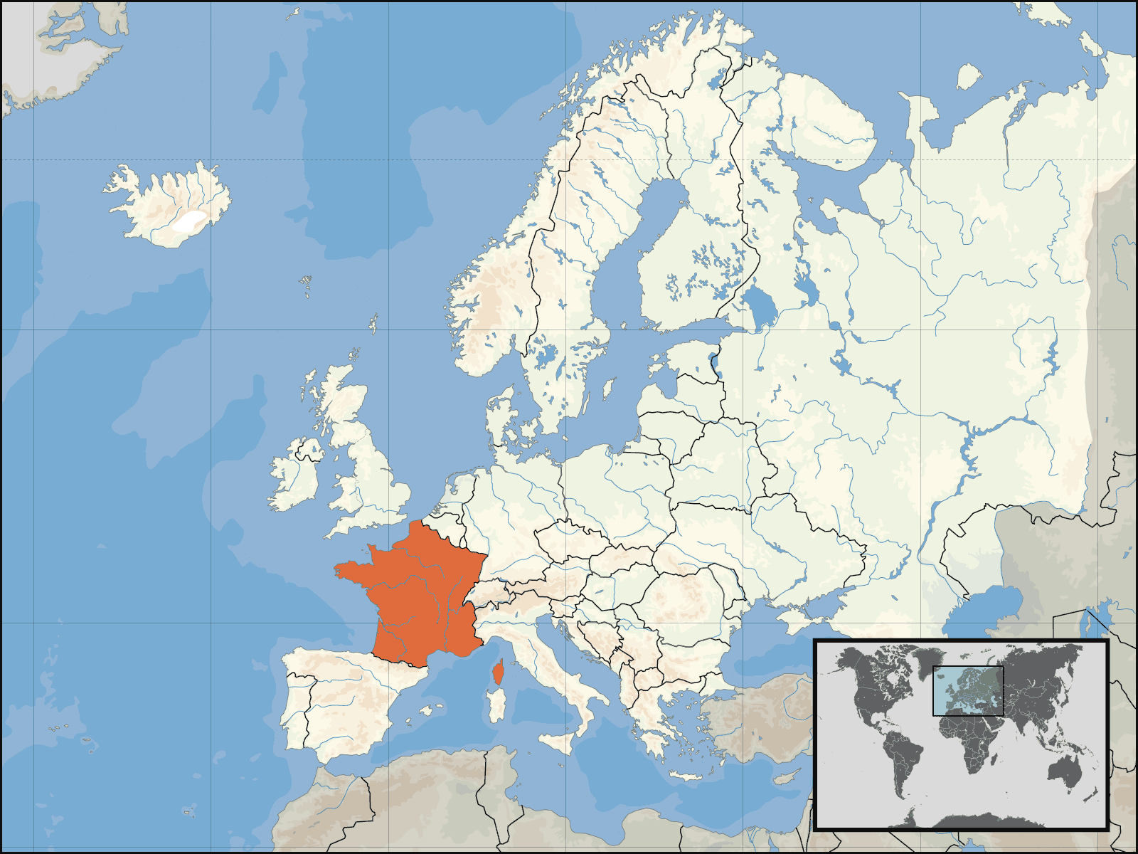 Map Of France Ks2.Ks2 Geography Place Knowledge 2b I France Its Location The
